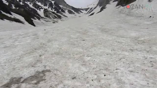 残雪の白馬岳/大雪渓